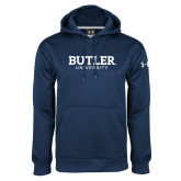 Under Armour Navy Performance Sweats Team Hoodie-Butler University