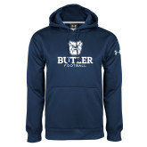 Under Armour Navy Performance Sweats Team Hoodie--Football