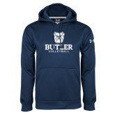 Under Armour Navy Performance Sweats Team Hoodie--Volleyball