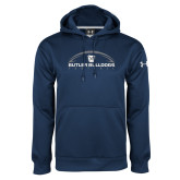 Under Armour Navy Performance Sweats Team Hoodie---Arched Football