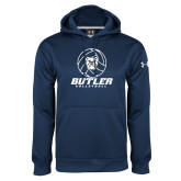 Under Armour Navy Performance Sweats Team Hoodie---Volleyball Ball Design