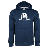 Under Armour Navy Performance Sweats Team Hoodie---Baseball Cap Design
