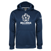Under Armour Navy Performance Sweats Team Hoodie---Soccer Ball Design