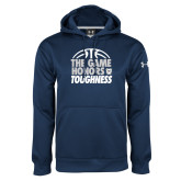 Under Armour Navy Performance Sweats Team Hoodie-The Game Honors Toughness
