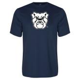 Performance Navy Tee-Bulldog Head