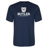 Performance Navy Tee-Butler University Stacked Bulldog Head