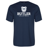 Performance Navy Tee--Volleyball