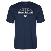 Performance Navy Tee---Arch Basketball Design
