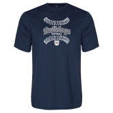 Performance Navy Tee---Softball Seams Designs