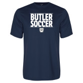 Syntrel Performance Navy Tee---Soccer Ball Design