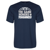 Performance Navy Tee-The Game Honors Toughness