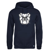 Russell DriPower Navy Fleece Hoodie-Bulldog Head