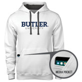 Contemporary Sofspun White Hoodie-Butler University