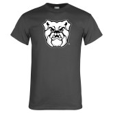 Charcoal T Shirt-Bulldog Head