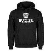 Black Fleece Hoodie-Butler University Stacked Bulldog Head