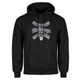 Black Fleece Hoodie---Softball Seams Designs