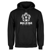 Black Fleece Hoodie---Soccer Ball Design