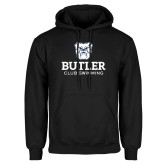 Black Fleece Hoodie-Club Swimming