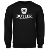 Black Fleece Crew-Butler University Stacked Bulldog Head