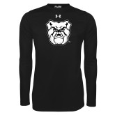 Under Armour Black Long Sleeve Tech Tee-Bulldog Head