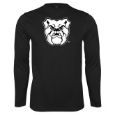 Syntrel Performance Black Longsleeve Shirt-Bulldog Head