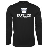 Performance Black Longsleeve Shirt--Football