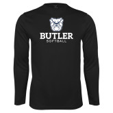 Performance Black Longsleeve Shirt--Softball