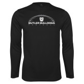 Performance Black Longsleeve Shirt---Arched Football