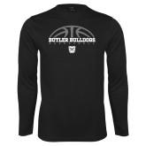 Performance Black Longsleeve Shirt---Arch Basketball Design