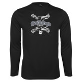 Performance Black Longsleeve Shirt---Softball Seams Designs