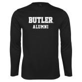 Performance Black Longsleeve Shirt-Alumni