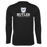 Performance Black Longsleeve Shirt--Track and Field