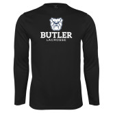 Performance Black Longsleeve Shirt--Lacrosse