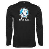 Performance Black Longsleeve Shirt-Butler Blue III