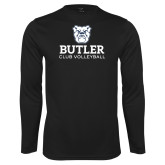 Performance Black Longsleeve Shirt-Club Volleyball