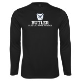 Performance Black Longsleeve Shirt-Club Ultimate Frisbee