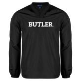 V Neck Black Raglan Windshirt-Butler