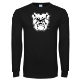 Black Long Sleeve TShirt-Bulldog Head