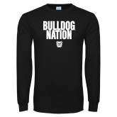 Black Long Sleeve TShirt-Bulldog Nation