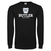 Black Long Sleeve TShirt--Soccer