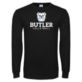 Black Long Sleeve TShirt--Volleyball
