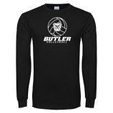 Black Long Sleeve TShirt---Volleyball Ball Design