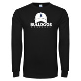 Black Long Sleeve TShirt---Baseball Cap Design