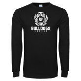Black Long Sleeve TShirt---Soccer Ball Design