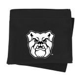 Black Sweatshirt Blanket-Bulldog Head