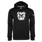 Under Armour Black Performance Sweats Team Hoodie-Bulldog Head