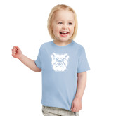 Toddler Light Blue T Shirt-Bulldog Head