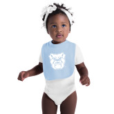 Light Blue Baby Bib-Bulldog Head