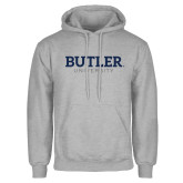 Grey Fleece Hoodie-Butler University
