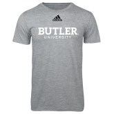 Adidas Sport Grey Logo T Shirt-Butler University